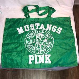 PINK Victoria's Secret Green Reusable Bag